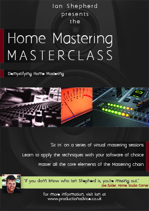 Home Mastering Masterclass - 25% off this week   The REAPER Blog